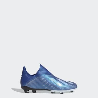 Chaussure X 19+ Terrain souple Bleu Enfants Football