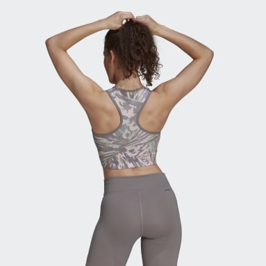 Women's Yoga Grey Zoe Saldana AEROREADY Bra Top