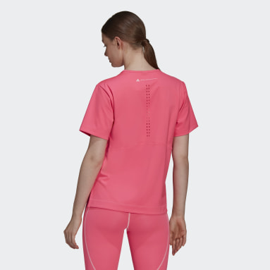 T-shirt Larga TRUEPURPOSE adidas by Stella McCartney Rosa Mulher adidas by Stella McCartney
