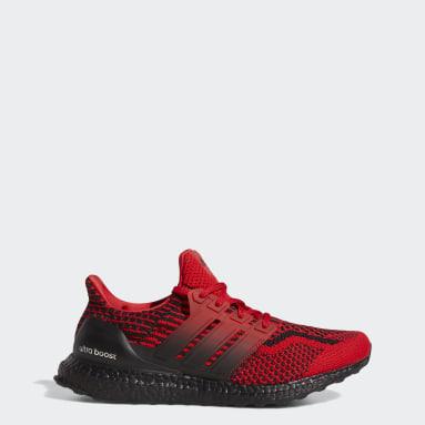 Men Running Red Ultraboost 5 DNA Shoes