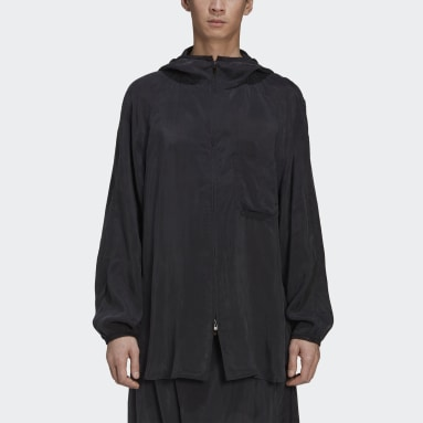 Men Y-3 Black Y-3 CH3 Sanded Cupro Hooded Top