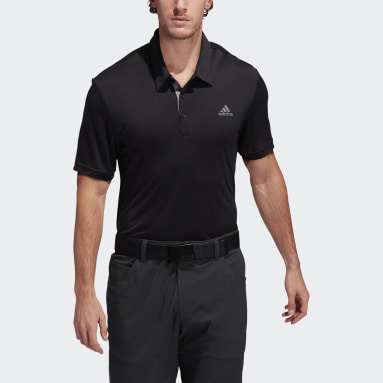 Men Golf Black Advantage Novelty Polo Shirt