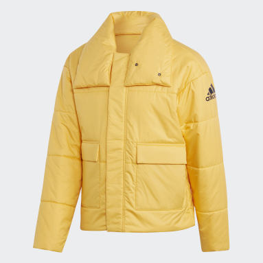 Veste Big Baffle Bomber Jaune Hommes City Outdoor