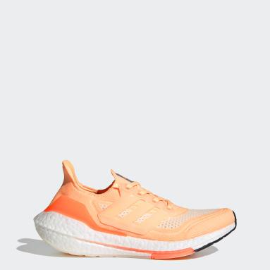 Scarpe Ultraboost 21 Arancione Donna Running
