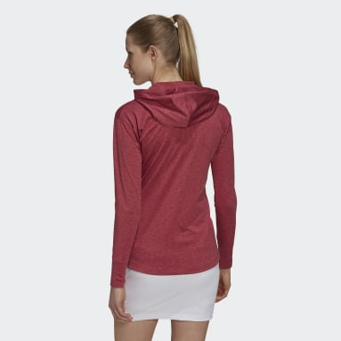 Women Golf Pink Essentials Primegreen Heathered Hoodie