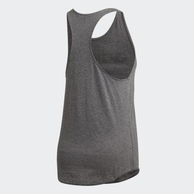 Camiseta de tirantes Essentials Linear Gris Mujer Sportswear