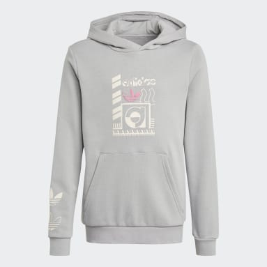 Youth Originals Grey Graphic Print Hoodie
