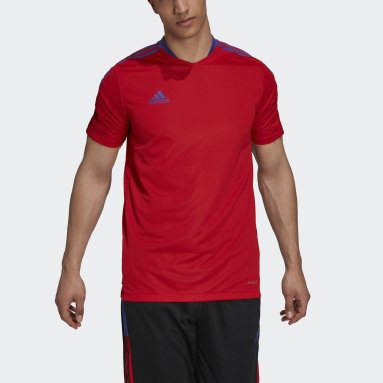 Men Football Red Tiro Primeblue Training Jersey