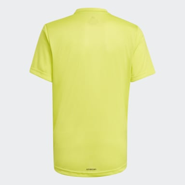 Boys Lifestyle Yellow adidas Designed To Move Big Logo Tee