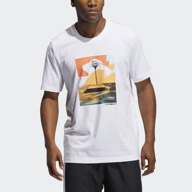 T-shirt Slept On Graphic Bianco Uomo Basket