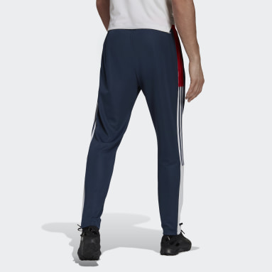Men Football Blue Tiro Track Pants