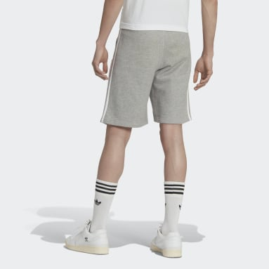 Men Originals Grey 3-Stripes Shorts