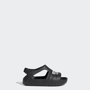 Kinder Originals Adilette Play Sandale Schwarz