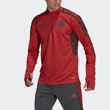 Heren Voetbal Rood CR Flamengo Trainingsshirt