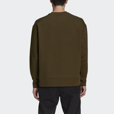 Men Y-3 Green Y-3 Classic Chest Logo Crew Sweatshirt