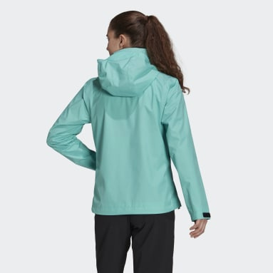 Dam TERREX Grön Terrex Multi RAIN.RDY Primegreen Two-Layer Rain Jacket