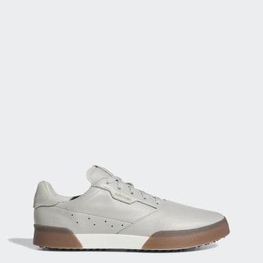 Men Golf Grey Adicross Retro Golf Shoes