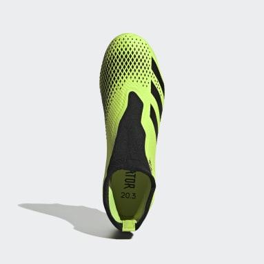Men Football Green Predator Mutator 20.3 Laceless Firm Ground Boots