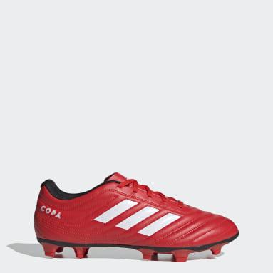Zapatos de Fútbol Copa 20.4 Terreno Firme Rojo Hombre Fútbol