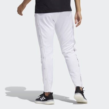 Women's Sportswear White Graphic Snap Pants