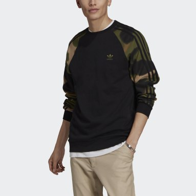 Mænd Originals Sort Camo Stripes Crewneck sweatshirt