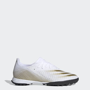 Men Football White X Ghosted.3 Turf Boots
