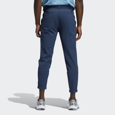 Men Golf Blue Pin Roll Pants