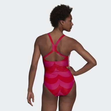 Women Swimming Pink SH3.RO 3-Stripes Marimekko Swimsuit