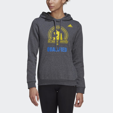 Women's Running Grey Boston Marathon® Qualified Hoodie