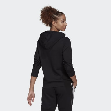 Women Sportswear Black Essentials Relaxed Logo Hoodie