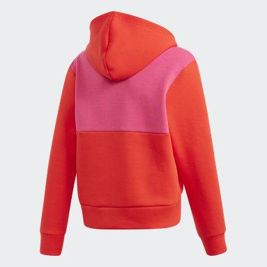 Sweat-shirt à capuche adidas x Classic LEGO® Bricks Boxy Rouge Filles Fitness Et Training