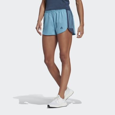 Women Running Blue Run It Shorts