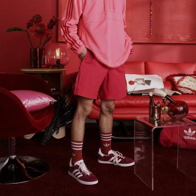 Heren Originals Rood 3-Stripes Zwemshort