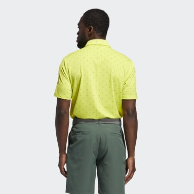 Men Golf Yellow Ultimate365 Printed Polo Shirt