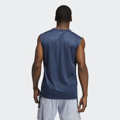 Playera sin Mangas All World Azul Hombre Basketball