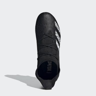 Bota de fútbol Predator Freak.3 césped natural húmedo Negro Niño Fútbol