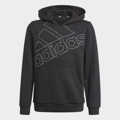 Boys Sport Inspired Black adidas Essentials Logo Hoodie