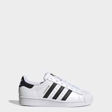 Youth 8-16 Years Originals White Superstar Shoes