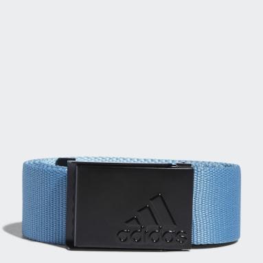ผู้ชาย กอล์ฟ สีน้ำเงิน เข็มขัดผ้าเว็บบิ้งที่สวมใส่ได้สองด้าน