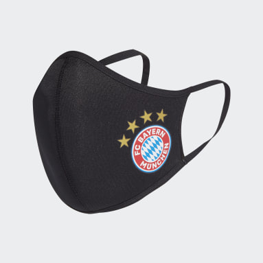 Lifestyle Black FC Bayern Face Covers 3-Pack XS/S