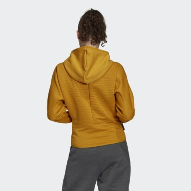 Women Sportswear Gold adidas Z.N.E. COLD.RDY Athletics Hoodie