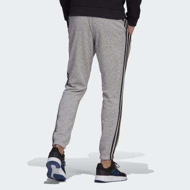 Muži Sportswear Siva Tepláky Essentials French Terry Tapered 3-Stripes