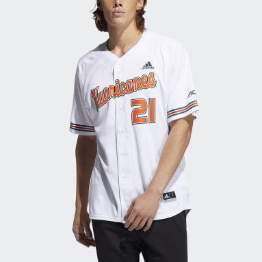 Men's Baseball White Hurricanes Jersey