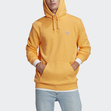 Men Originals Orange LOUNGEWEAR Trefoil Essentials Hoodie