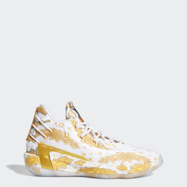 Basketball White Dame 7 x Ric Flair Shoes