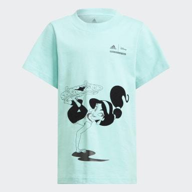 Dívky Cvičení A Trénink zelená Tričko Disney Comfy Princesses