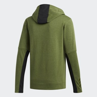 Men's Basketball Green Cross-Up 365 Sweatshirt