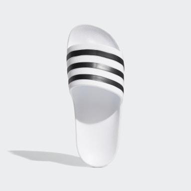 Women's Essentials White Adilette Aqua Slides