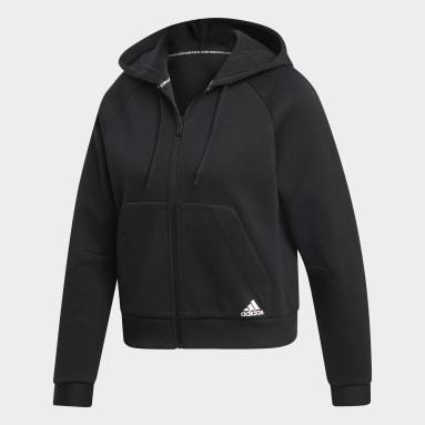 Frauen Sportswear Must Haves Kapuzenjacke Schwarz