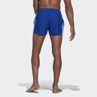 Men's Swim Blue Classic 3-Stripes Swim Shorts